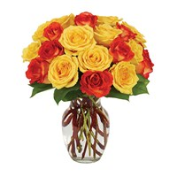Yellow & Orange Rose Bouquet (BF236-11)
